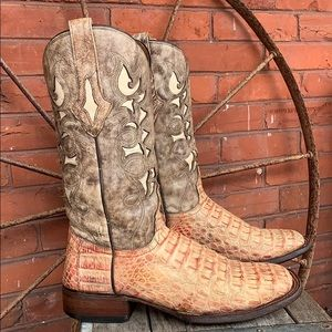 RESISTOL RANCH by LUCCHESE Genuine Crocodile Boots